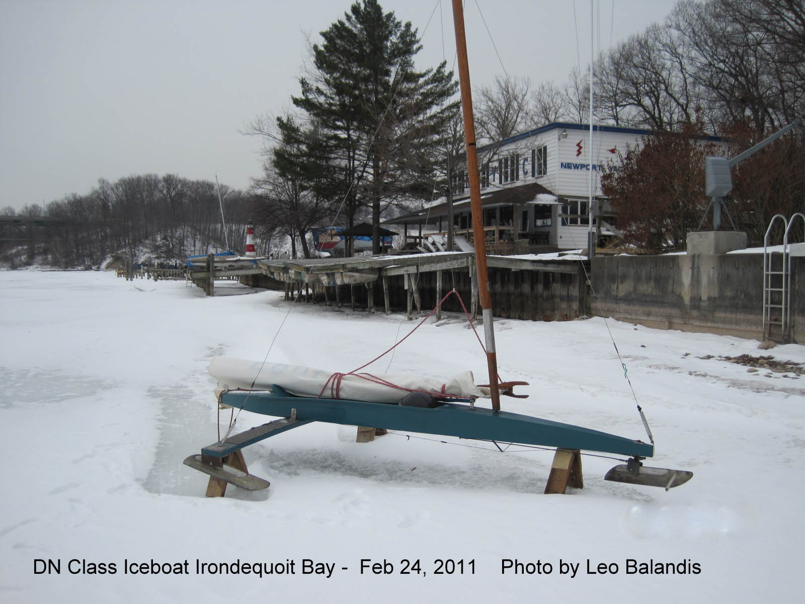 Iceboat DN Class Irondequoit Bay